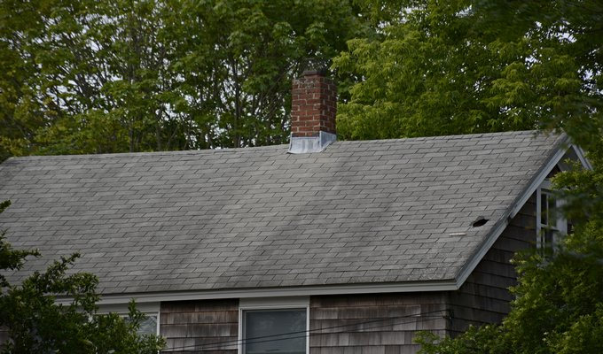Roof damage is common after a blustery winter, especially around chimney and ventilation. JD ALLEN