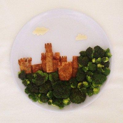 Harley Langberg makes art from food. HARLEY LANGBERG