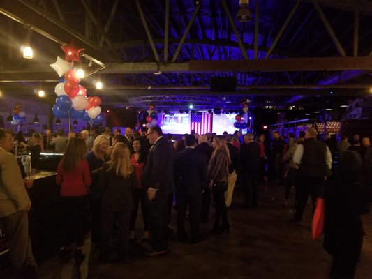 Republicans gather at Stereo Garden in Patchogue.
