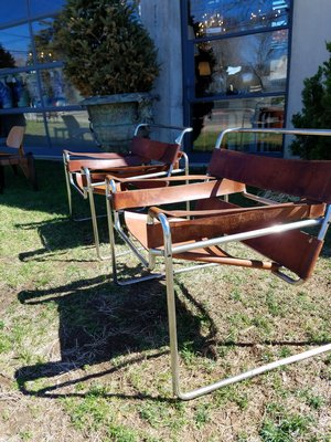 Next best thing to a yard sale is finding a pair of Wassily Chairs by Marcel Breuer on the lawn outside Collette. JACK CRIMMINS