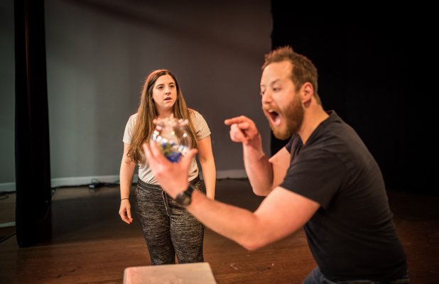 Bethany Dellapolla and Jonathan Fogarty in 'Reasons to Be Pretty' at Southampton Cultural Center.  DANE DUPUIS