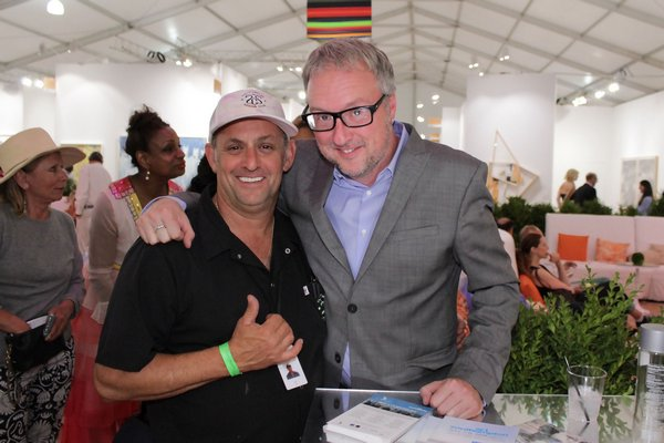Chef Scott Kamp and Ian Duke of Southampton Social Club, which catered the opening. TOM KOCHIE