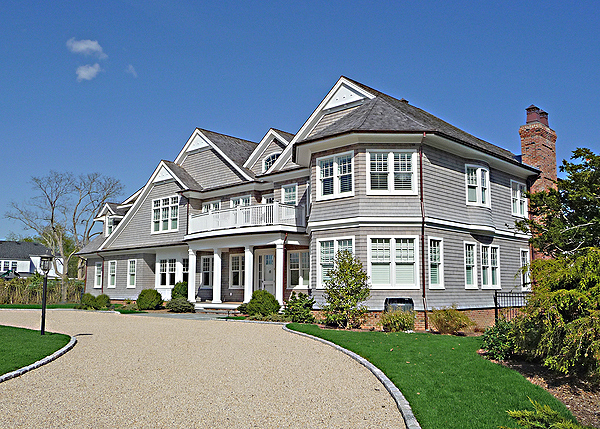 A completed home in the estate section of Westhampton Beach. COURTESY LAWRENCE III CORPORATION