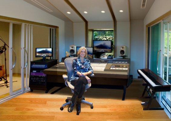 Cynthia Daniels in the studio. BY COURTESY CYNTHIA DANIELS