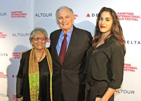 Arlene and Alan Alda and their daughter Beatrice. TOM KOCHIE