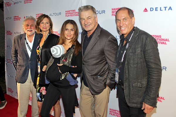 Randy Mastro, Toni Ross, the Baldwins and Stuart Suna at Guild Hall on Thursday for the Hamptons International Film Festival opening night.