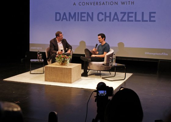 A Conversation With Damien Chazelle on Sunday at Bay Street Theater. Joshua Rothkopf, a critic for Time Out NY and Rotten Tomatoes, interview Mr. Chazelle. TOM KOCHIE