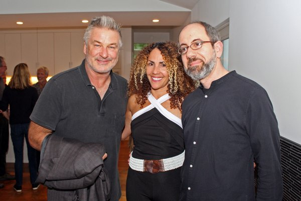 Alec Baldwin, Minerva Perez and director Robert Behar at the private reception for 'The Silence of Others' on Sunday during the Hamptons International Film Festival.  TOM KOCHIE