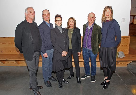 Robby Stein, James Merrell, Terrie Sultan, Sandy Perlbinder, Paul Goldberger and Corinne Erni. TOM KOCHIE