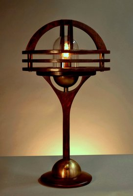 A marine grade lamp hand crafted by Art Donovan owner of Sage Marine. COURTESY: ART DONOVAN