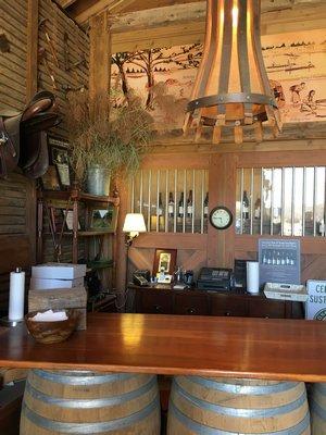 Barrell bar and lamp. HANNAH SELINGER