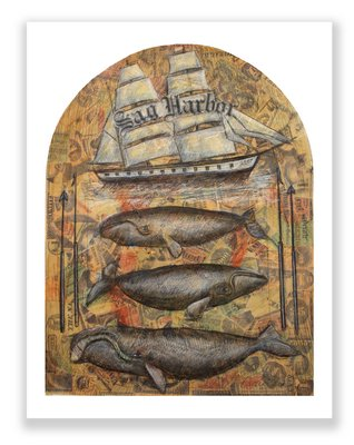 """Robert Carioiscia's """"Cetology"""" will be gp on view at Canio's Books on June 6 in honor of Sag Harbor and """"Moby-Dick."""""""