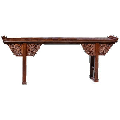 Antique Chinese dragon altar table front.  COURTESY SOTHEBY'S HOME