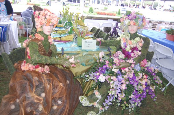 Marders had one of the dozens of beautifully decorated tables in the VIP tents at this year's Grand Prix day at the Hampton Classic. DAWN WATSON