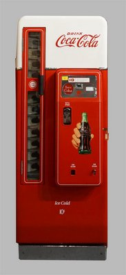 A vintage-style Coke machine from Three Ponds Farm on auction. COURTESY THE POTOMACK COMPANY