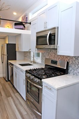The kitchen.  DANA SHAW