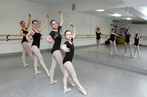 Dancers Chloe Gavalas, Brooke Bierfriend, JanieMae Westergard and Rachael Pepper will attend prestigious ballet intensives this summer. DANA SHAW