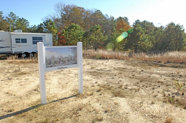 The site of The Hills in East Quogue.  DANA SHAW