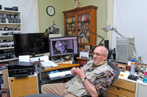 Jonathan Morse in his home workspace.  DANA SHAW