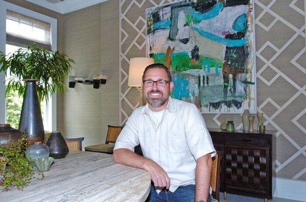 Gideon Mendelson in his dining room at the 2016 Hampton Designer Showhouse.  DANA SHAW