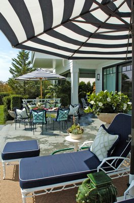 The East Hampton Gardens outdoor patio.