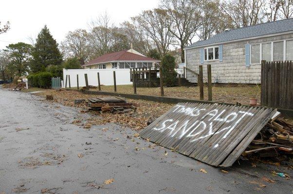 Flanders post Sandy in 2012.  PRESS FILE