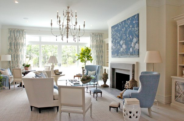 Kate Singer Home's great room at the 2016 Hampton Designer Showhouse.  DANA SHAW