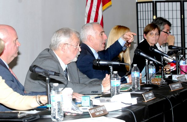 The Southampton Town Board on tuesday afternoon.  DANA SHAW