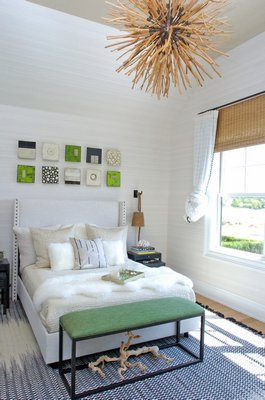 A guest bedroom by Melanie Roy.