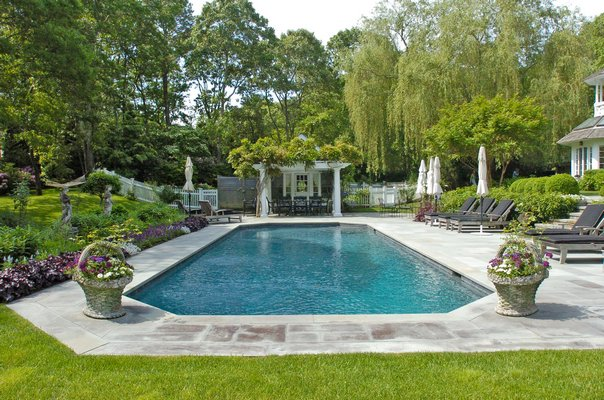 The garden on Wainscott Stone Road in Wainscott is one of the stops on the ARF Garden Tour.  DANA SHAW