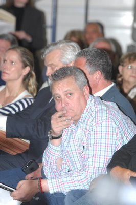 Hills proponant Mark Hissey at the meeting on Tuesday.  DANA SHAW