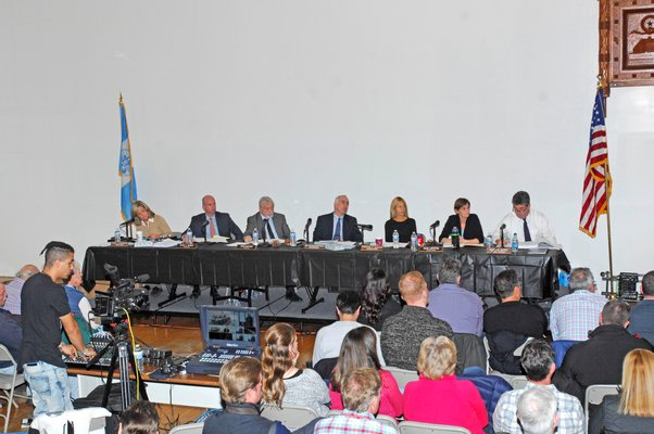The Southampton Town Board meeting on Tuesday afternoon. DANA SHAW