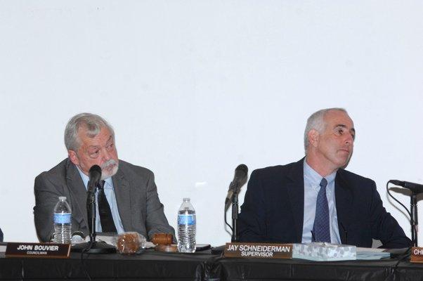 Town Board member John Bouvier and SupervisorJay Schneiderman.