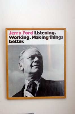 A Gerald Ford poster.  DANA SHAW