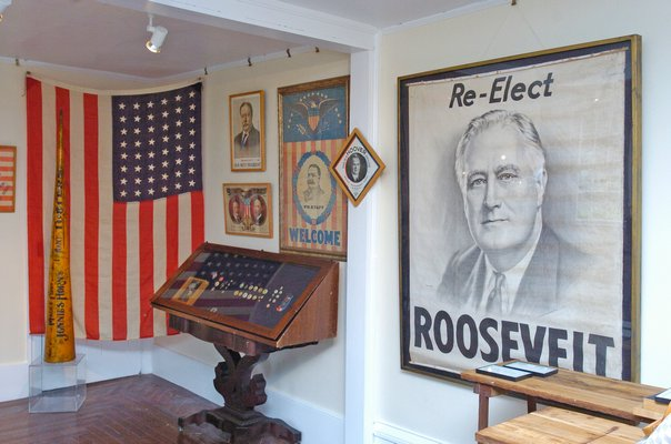 "Bridgehampton Museum, in collaboration with The Museum of Democracy, will open the exhibition ""Path to Presidency"" to the public on June 2.   DANA SHAW"