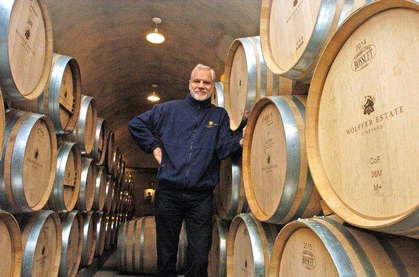 Roman Roth, winemaker and partner at Sagaponack's Wölffer Estate Vineyard.  DANA SHAW