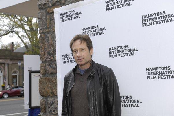 David Duchovny on the Hamptons International Film Festival on Friday night. DANA SHAW