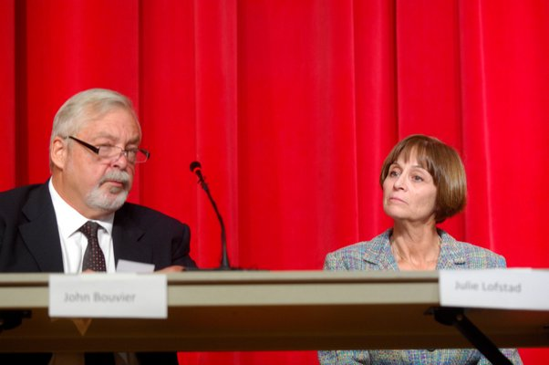 Southampton Town Board candidates John Bouvier and Julie Lofstad.