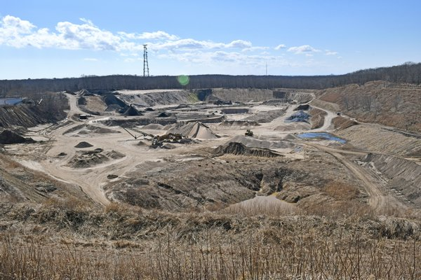 The Sand Land mining operation in the South Fork Morainal Forest in Southampton Town.  DANA SHAW