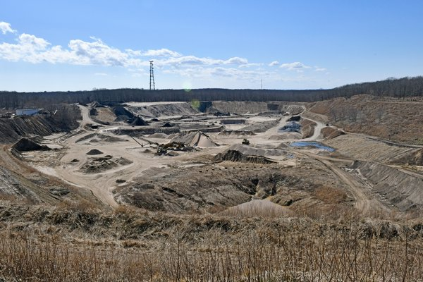 The Sand Land mining operation in Noyac.