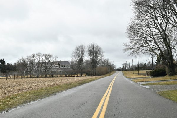 Parsonage Lane in Sagaponack took the number one spot as the most expensive zip code on the South Fork. DANA SHAW
