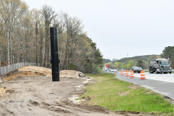 The construction site looking east on the westbound side of County Road 39.  DANA SHAW