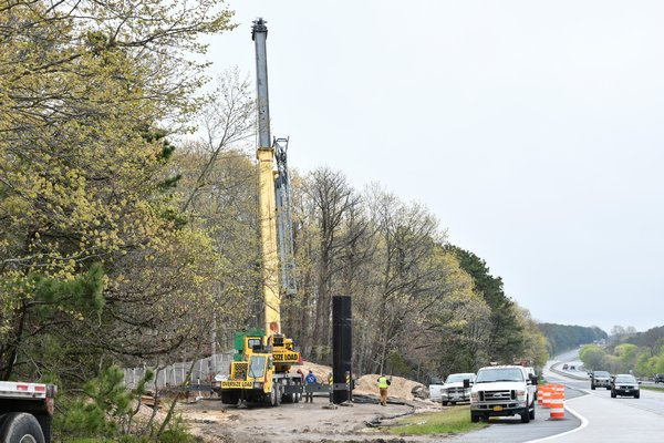 The construction site looking east on the westbound side of County Road 39 on Saturday afternoon. DANA SHAW