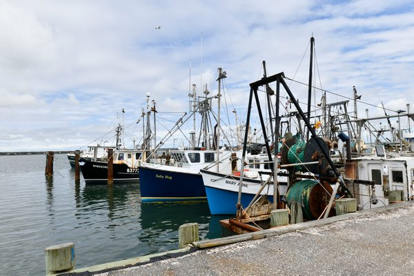 The commercial fishing dock in Hampton Bays.  DANA SHAW