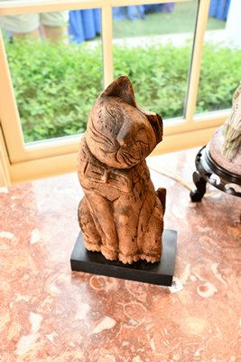 There was something for everyone including this carved and painted folk art cat. DANA SHAW