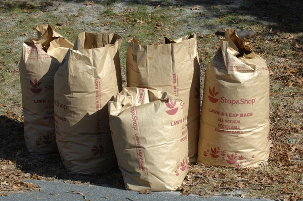 All Southampton Town residents, regardless of age or disability, will be required to place leaves for the spring cleanup in biodegradable bags as opposed to just raking loose leaves and brush into piles for pickup.