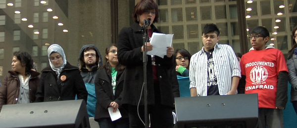 Dream Act rally in Chicago. COURTESY DENNIS MICHAEL LYNCH