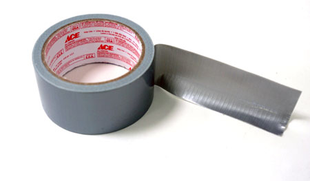 Duct tape is a vinyl, fabric-reinforced, multi-purpose type of tape.