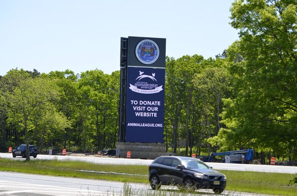 Shinnecock Indian Nation tribal trustees are currently being sued in State Supreme Court over the Nation's billboards along Sunrise Highway in Hampton Bays. ANISAH ABDULLAH