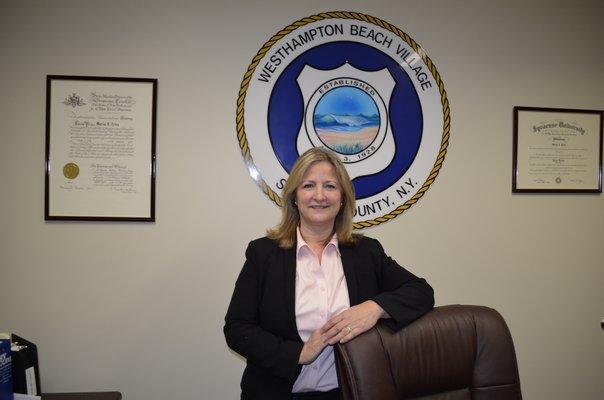 Westhampton Beach Mayor Maria Moore. ANISAH ABDULLAH